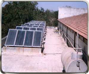 NRG Solar Water Heater for Canteen
